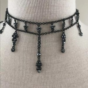 Jewelry - Black chocker & bracelet